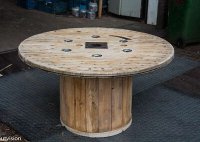 Houtvision-sloophout-kabelhaspel-tafel