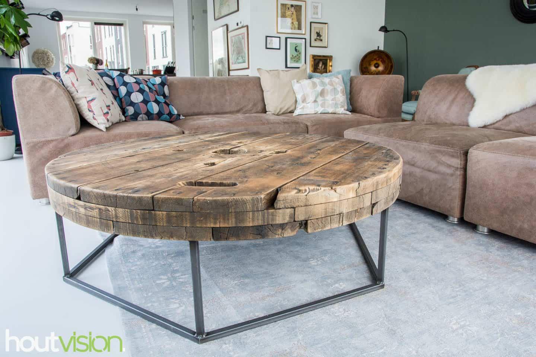Maatwerk meubel: Salontafel kabelhaspel staal