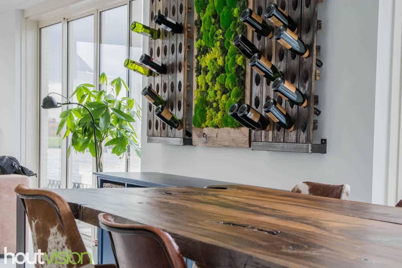 Uniek meubel: Eettafel bartafel meerpalen sloophout
