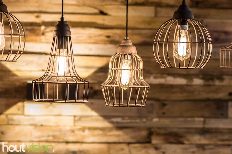 Hanglamp verlichting sloophout