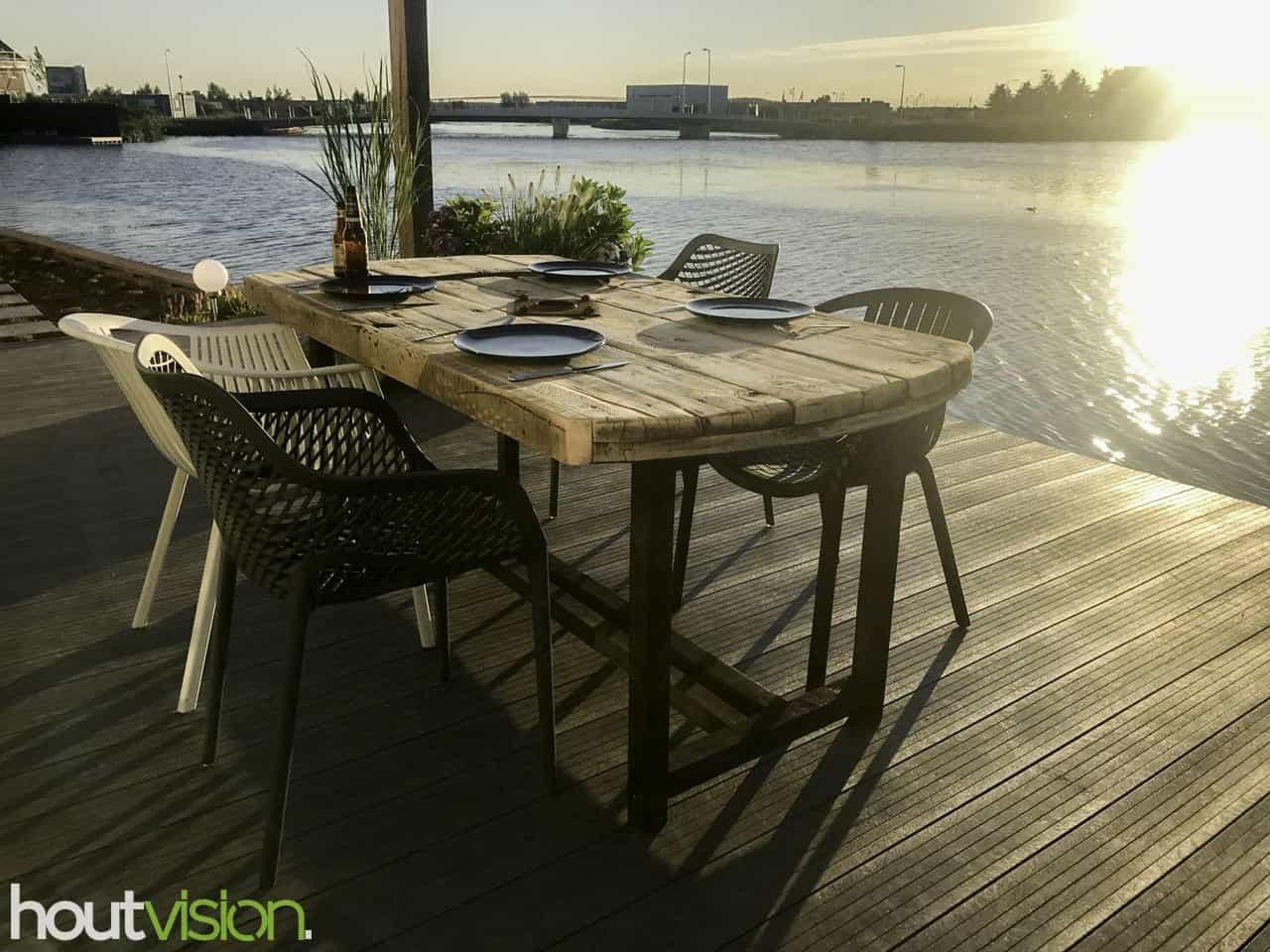 Uniek meubel: eettafel kabelhaspel