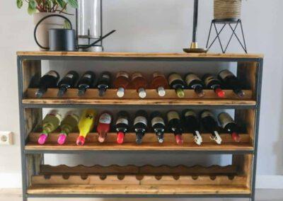houtvision-sloophout-maatwerk-kast-wijnrek-wijnkast-meubel-wijnflessen-kaasplanken-oude-industriele-productafbeelding