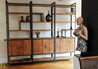 houtvision-sloophout-maatwerk-meubelen-op-maat-industrieel-kast-modulaire-vakken-planken-deuren-opbergen-staal-stalen-frame