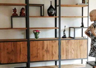 houtvision-sloophout-maatwerk-meubelen-op-maat-industrieel-kast-modulaire-vakken-planken-deuren-opbergen-staal-stalen-frame-pa