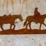 Paard cowboy 57x25