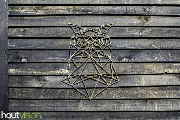 geometrische uil staal